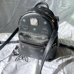 MCM Visetos side stud mini stark backpack